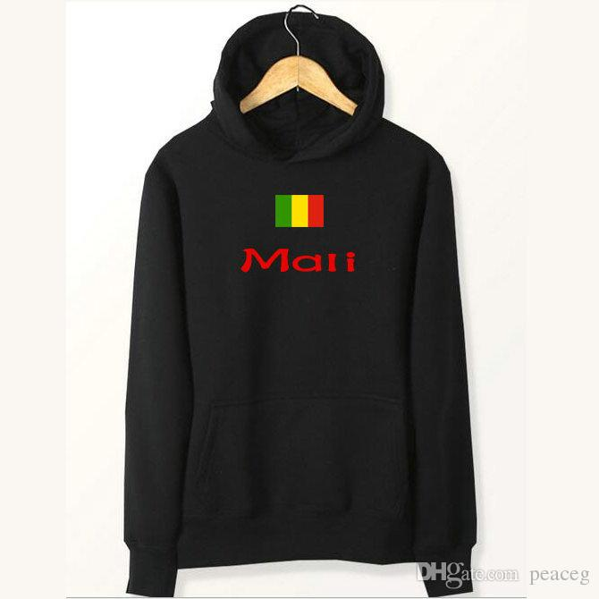 Mali flag hoodies Country high tide style sweat shirts Fleece clothing Pullover coat Outdoor sport jacket Brushed sweatshirts