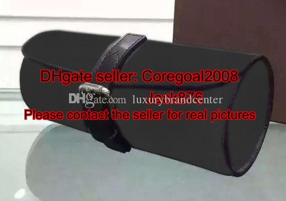 3 Uhrengehäuse M43385 Box Herren Designer Frauen Beutel Timepieces Reise Zubehör Leder Trimmungen N41137 M47530 M32609 5 Farben M32719 Schwarz