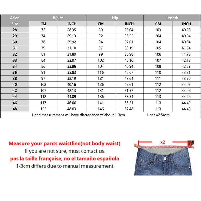 46 Negócios Primavera Atacado-Plus 48 Hot 44 Venda Outono Jean Marca Roupas Moda Jeans 2021 Casuais Homens Calças Nova Moda Tamanho Moda Phsmw