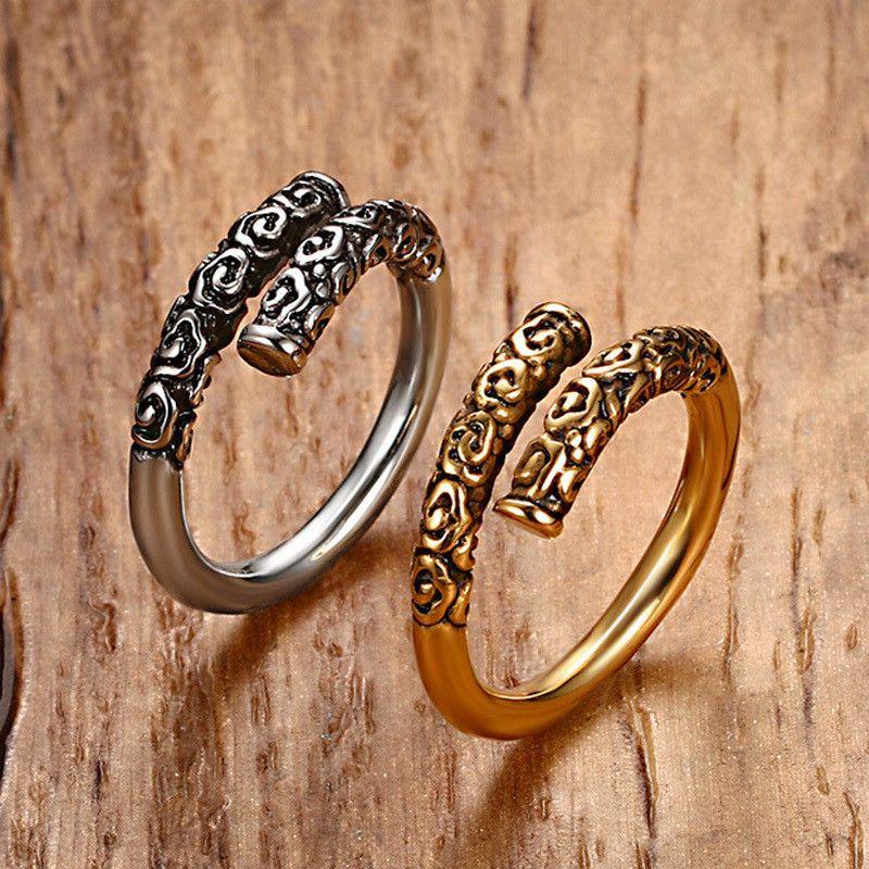 Anello da uomo Accessori Punk Rock Acciaio inossidabile 316L Colore oro Anelli di alta qualità Gioielli da uomo anel masculino