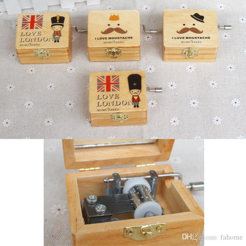 London Policeman Souvenir Best Gift - Hand Crank Wooden Music Box - DIY Wedding Souvenirs Christmas Gifts Free Shipping