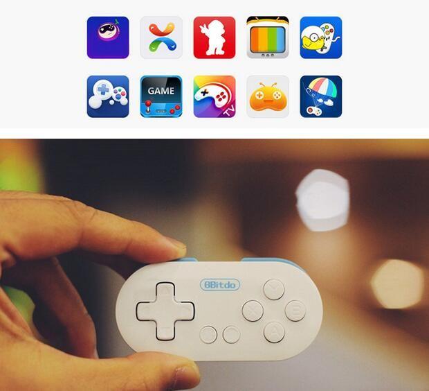 Controller di gioco Joystick 8Bitdo Zero Mini Wireless Bluetooth V2.1 Controller di gioco Gamepad Joystick Selfie per Android iOS Finestra Mac OS