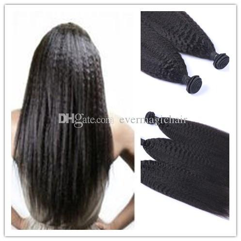 6A Hair Wholesale Price Top Quality Virgin Brazilian Black Kinky Straight 100% Human Hair 100G Per Piece Remy Hair Extension 100G Per Piece