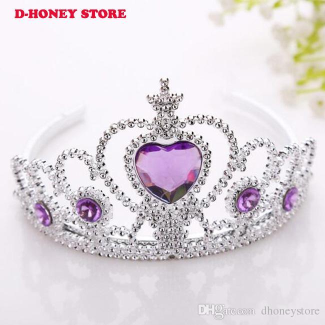 Princess Hairband Child Party Bridal Crown Headband Crystal Diamond Tiara、