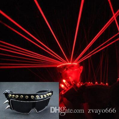 Светодиодные солнцезащитные очки бар партии принц ночной клуб лазерные очки танцевальный вечер певцы выполняют DJ этап светоизлучающие лазерные очки gl лазерные очки