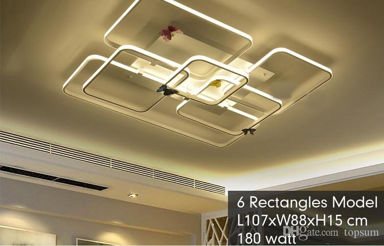 Moderne LED Deckenleuchte Rechteck Stil Acryl Schirm Mit Schmetterling Kuche Schlafzimmer Wohnzimmer Leuchte