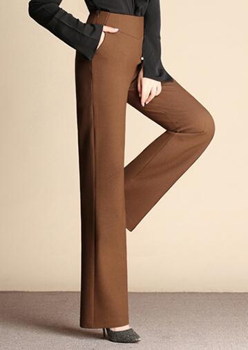 Sykooria Pantalones Anchos Sueltos de Cintura Alta para Mujer Pantalones de Yoga de Color S/ólido de Algod/ón Modal
