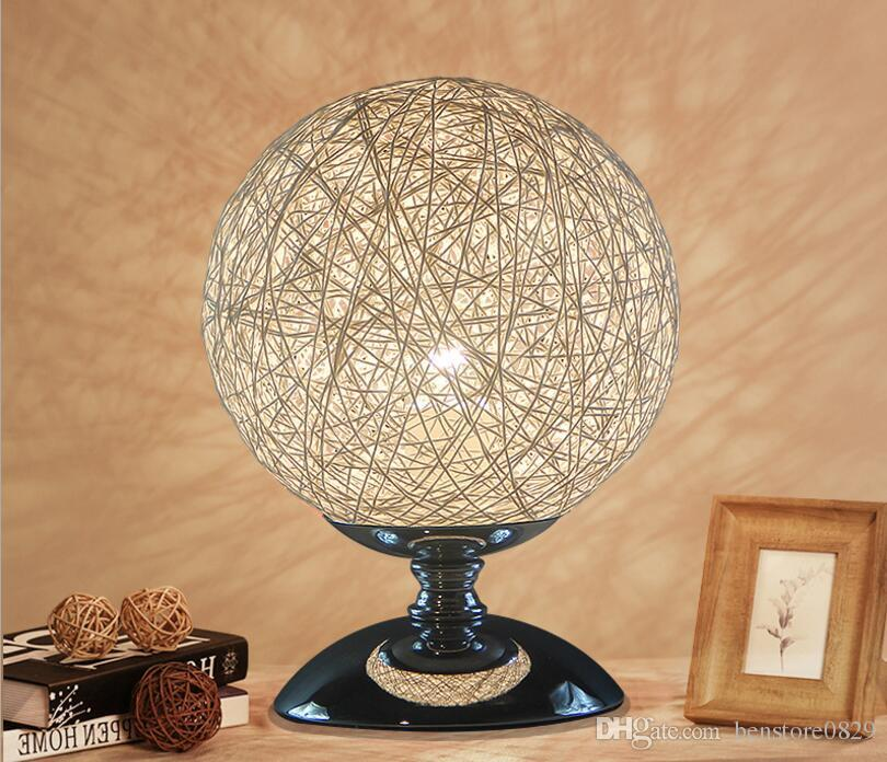 2021 Modern Art Deco Led Table Lamps, Round Lamp Shades Table Lamps