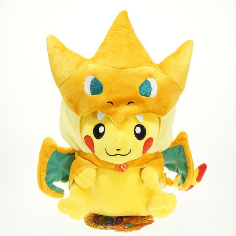 "Pikados Pikachu with Gyarados Cape Cosplay Pokemon Plush Toy Stuffed Animal 8"""