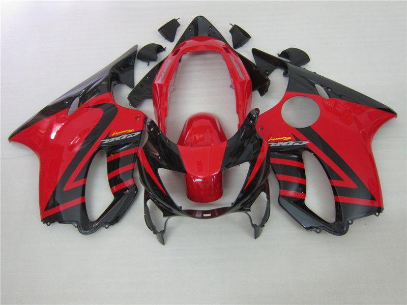 100% de los kits de ajuste de inyección de carenado para Honda CBR600 F4 1999 2000 carenados del mercado de accesorios de cuerpo negro rojos conjunto CBR 600 F4 99 00