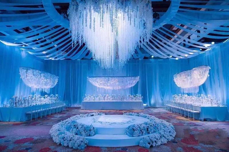 2 متر طويل أنيق الحرير الاصطناعي زهرة الوستارية فاين كوبية الروطان ل خلفية لوازم الزفاف الديكور 10 اللون في الأسهم