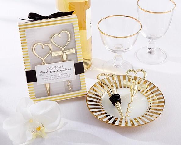 Acquista Bomboniere E Omaggi Gli Invitati Cheers To A Great Combination Set Da Regalo Matrimonio In Oro 50 Souvenir Lotto A 192 67 Dal Tongshop8