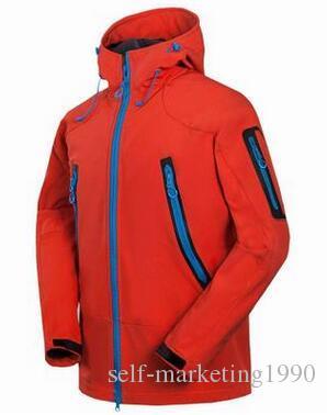 1460SAL Uomo Berretti da campeggio Escursionismo Abbigliamento da trekking, antivento impermeabile con cappuccio Soft shell gore tex giacche cappotti