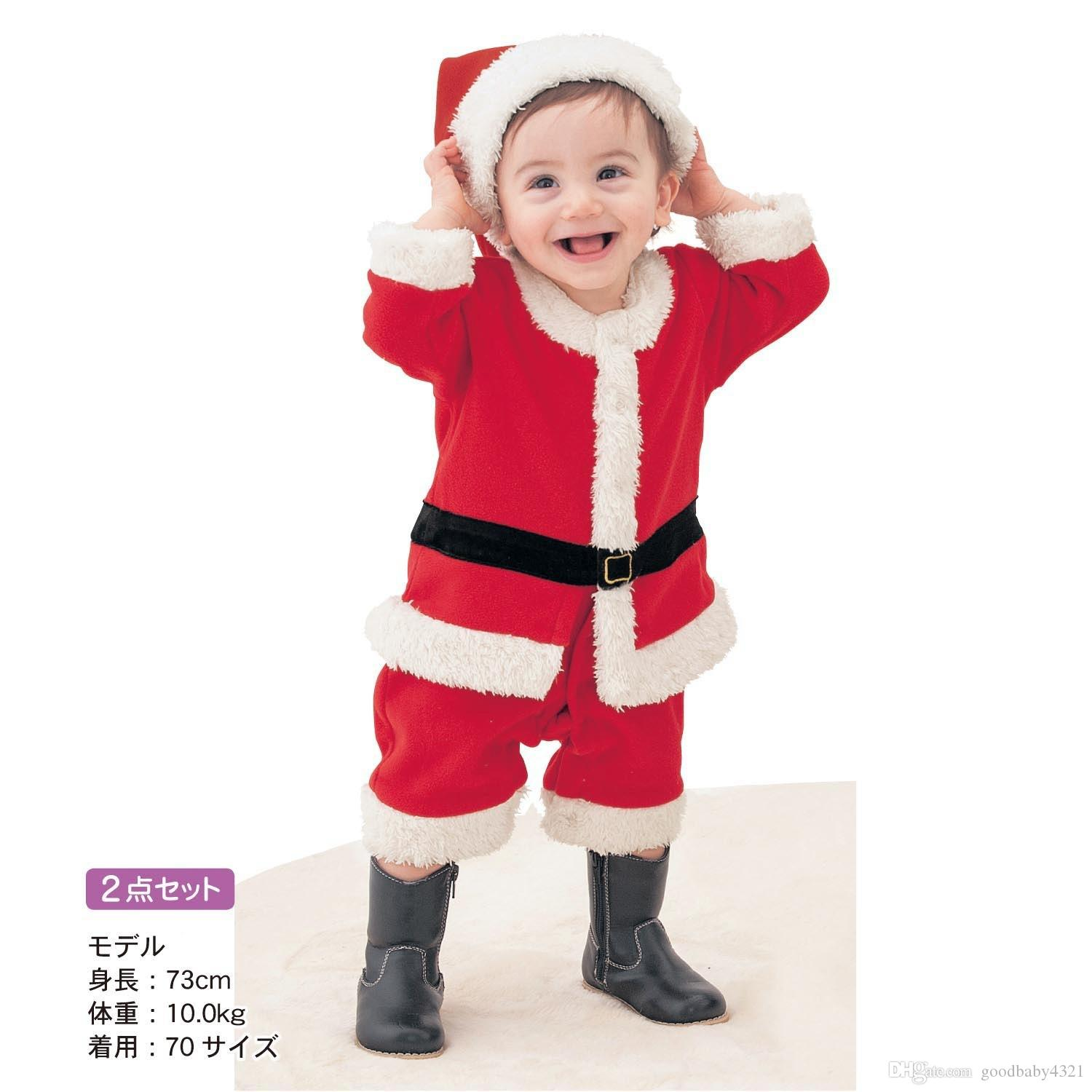 2018 Boys Girls Santa Baby Dress With Christmas Hat Kids Classic