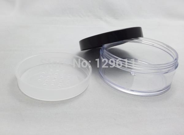 Barattolo di polvere sciolto 50 g / lotto 30 g / 40 g, barattolo di polvere sciolto vuoto da 80 ml con setaccio