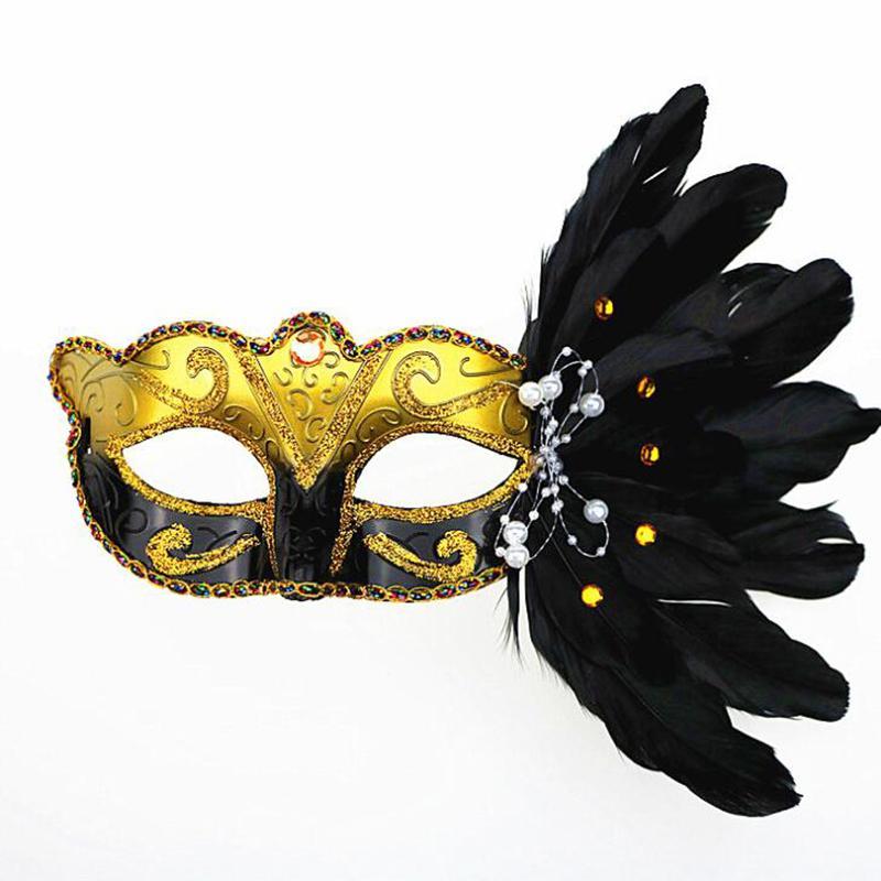 Black /& Gold Venetian Masquerade Party Carnival Eye Mask Fancy Dress