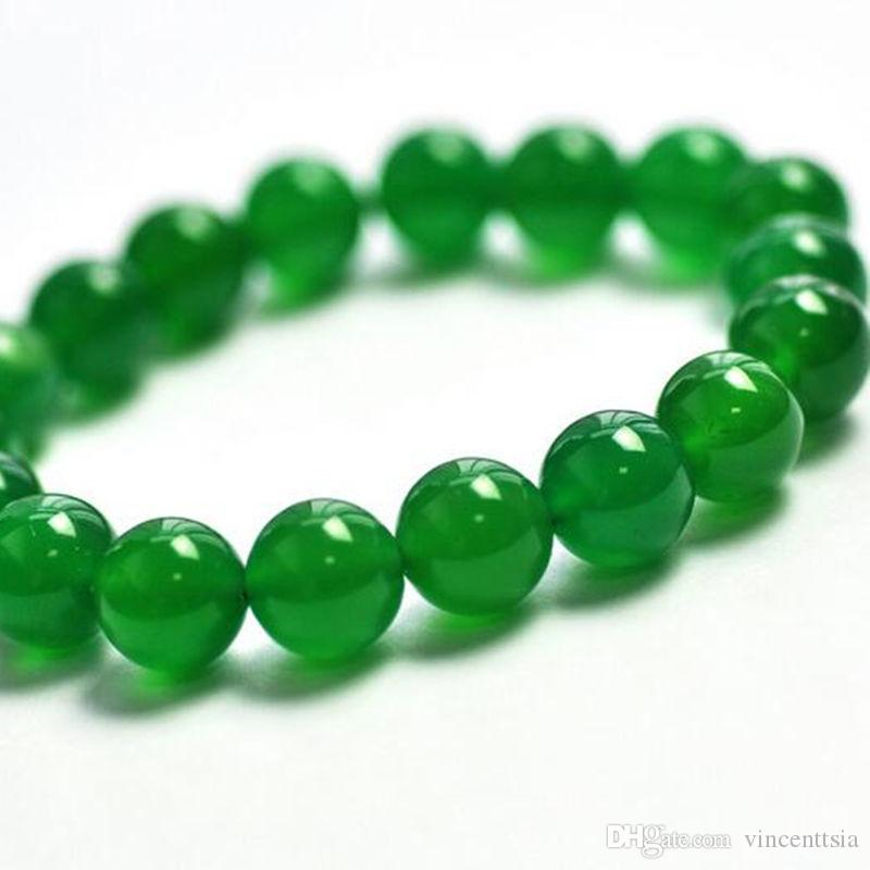 bracelet argent pierre verte