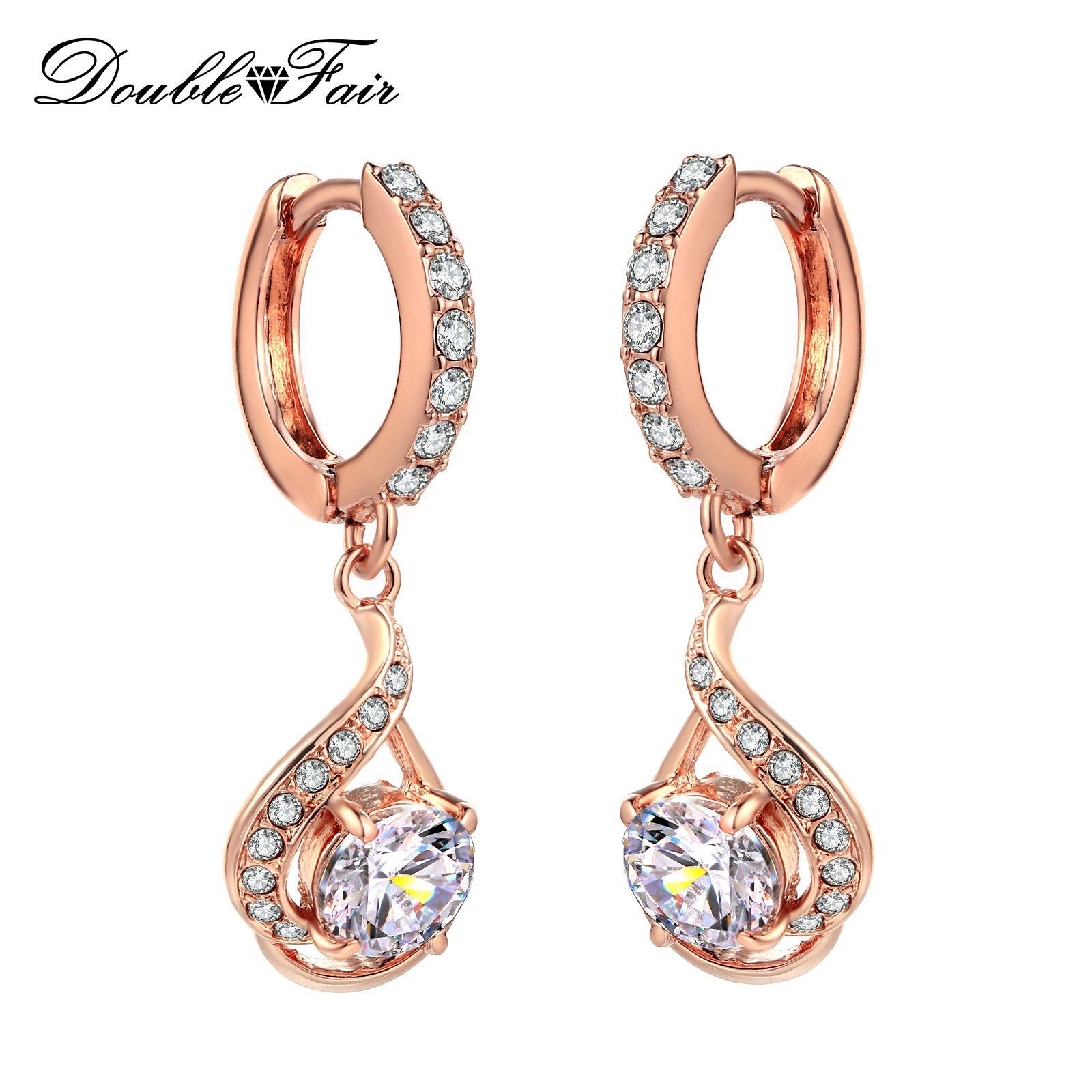 ladies Gold plated Drop Dangle Earrings Jewellery