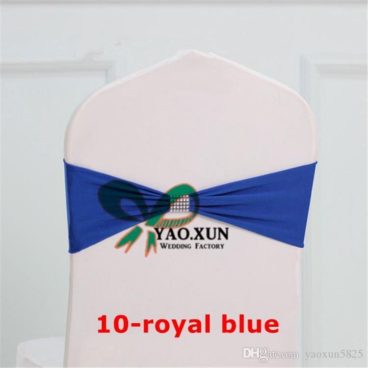 الأزرق الملكي اللون دنة كرسي فرقة  شاح الرئاسة يصلح لغطاء كرسي مع مشبك