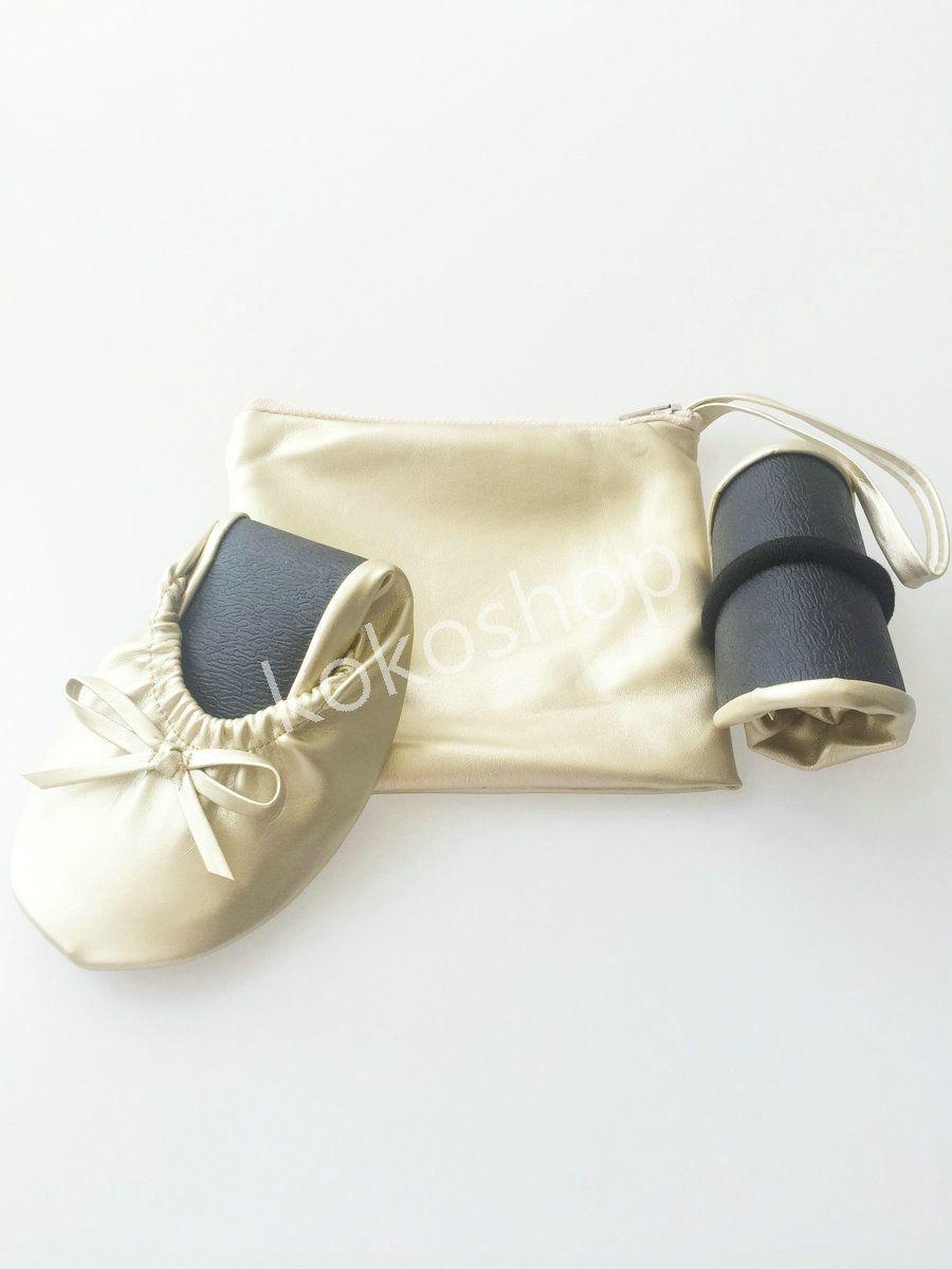 2020 Big Shoes sconto signore pantofola di viaggio pieghevole pieghevole scarpe basse ballerina con piccola tasca portatile