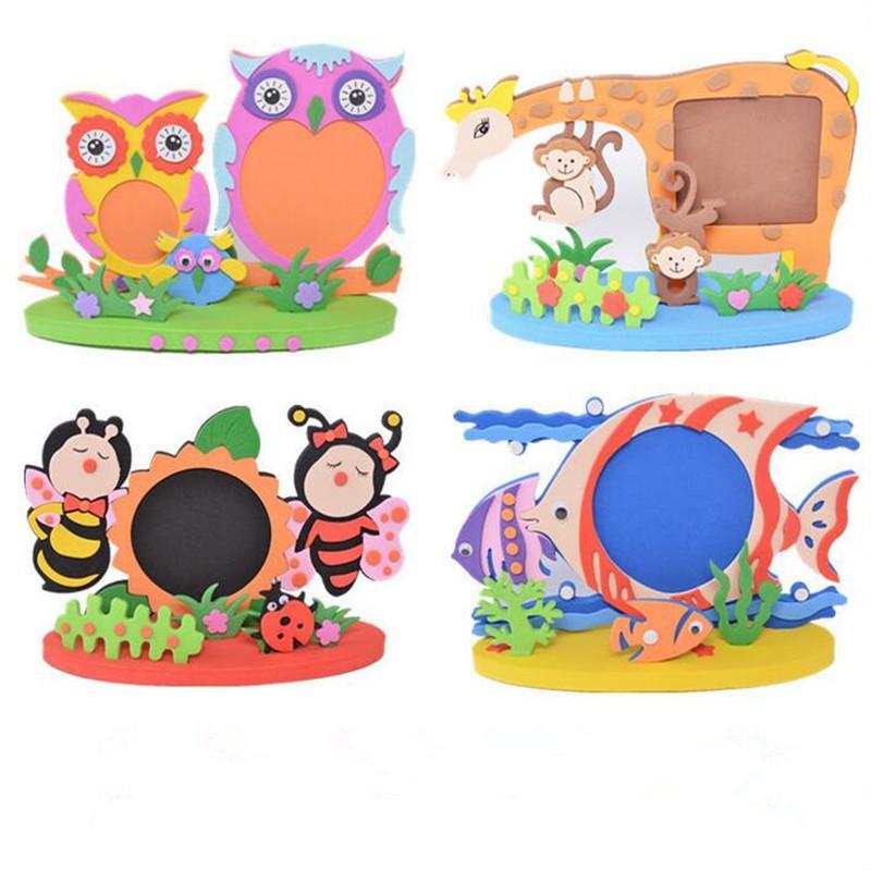 Cornice per bambini FAI DA TE Stereo EVA Cornice per foto Genitori Giocattoli per bambini Compleanno per feste