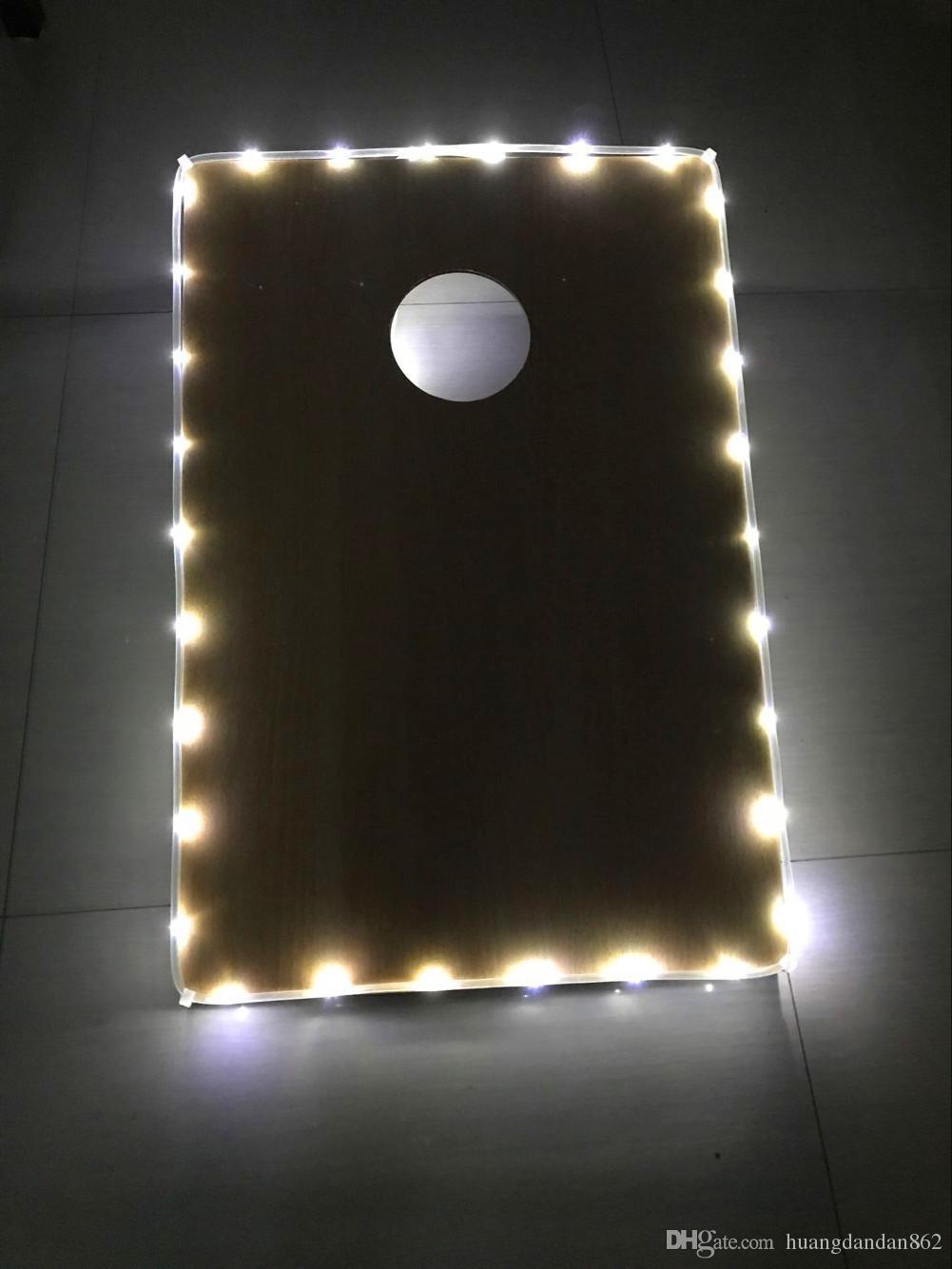 100PCS Rand Cornhole LED-Licht für cornhole Brett 1pc LED Cornhole Randbefeuerung MIX / MATCH FARBEN! -