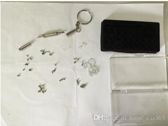 샘플 테스트 링크 핸드 툴 및 실용적인 3in1 스크루 드라이버 안경 썬글라스 수리 키트 (키 체인 포함) 작은 스테인레스 스틸 스크류 키트 도구