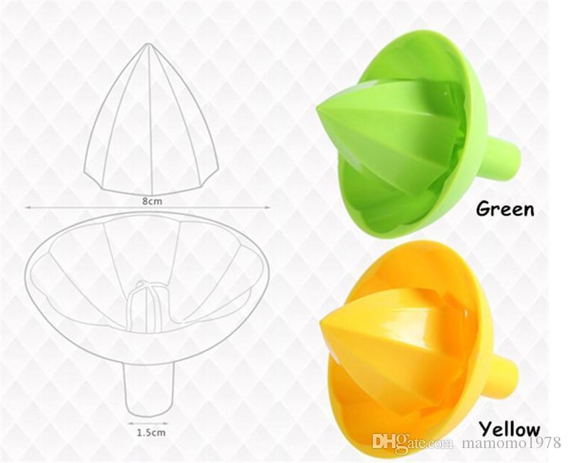 10pcs/lot FDA Plastic Manual Juicer Fruit Presser Lemon Squeezer Mini Fruit & Vegetable Reamer Easy Kitchen Tools Ok 0251