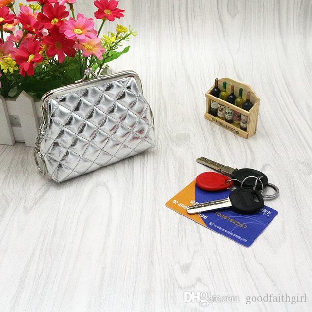 50pcs Fashion Hot Beautiful Women Girl PU Hasp Coin Purse Portable Mini Wallet change Money Bag Mini Clutch Card key Holder xmas gift