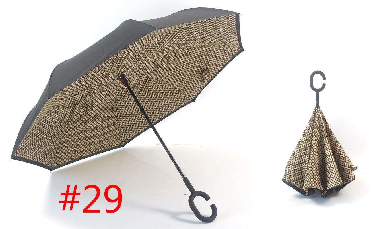 2017 2017 Inverted Umbrella Double Layer Reverse Rainy Sunny Umbrella  Parasols With C Handle Self Standing Inside Out Special Design From  Top_jerseys,