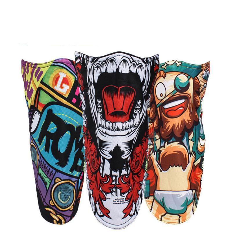 Cycling Mask Ski Snowboard Motorcycle Winter Warmer Sport Full Face Mask Pirates 3D Printed Triangular Scarf Skiing Mask
