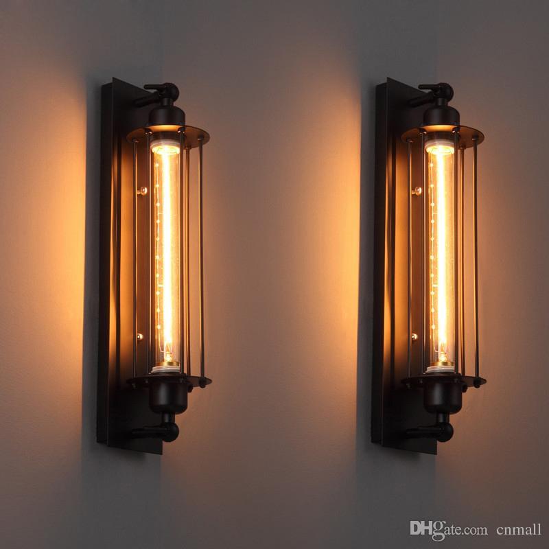 Çatı Bağbozumu Duvar Lambaları Amerikan Endüstriyel Duvar Işık Edison T300 E27 Yatak-aydınlatma Göz fener Duvar Aplik Işıkları Ev Dekorasyon Aydınlatma