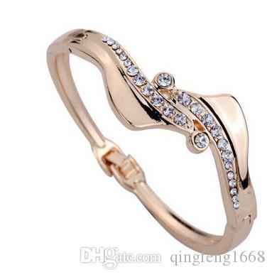Großhandel heißer Verkauf Europa und die Vereinigten Staaten Mode S-Typ Inlay Diamant Armband w145