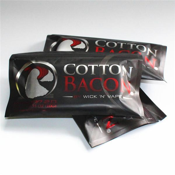 COTONE BACON 2.0 Clone 100% Puro Cotone Pancetta Per DIY RDA RBA Atomizzatori E Sigarette Vaporizzatori In Magazzino Spedizione Gratuita