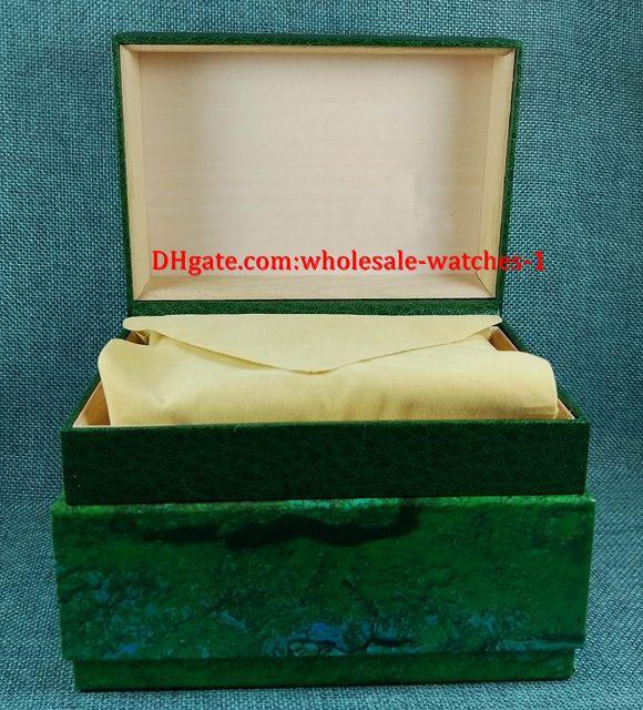 Envío gratis Reloj de lujo Para hombre Para R Reloj Caja Original interior mujer relojes Cajas Hombres Reloj verde caja
