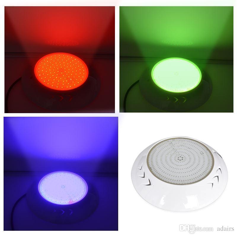 شغل IP68 الراتنج الخيالة RGB LED حمام سباحة الضوء 18W 24W 30W 35W 42W 12V تحت الماء PISCINAS ستريت سبا بركة تحكم عن بعد