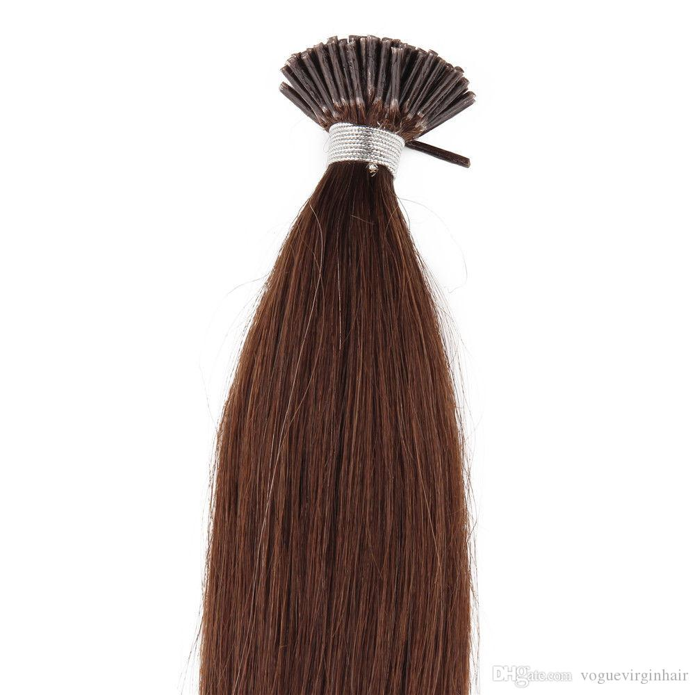 High Quality Extensions i-tip Human hair extensions straight Brazilian human hair pre-bonded hair extensions 50 gram