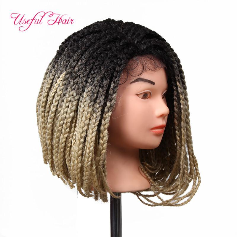 YENİ ARRIAAL NOEL HEDİYE Sentetik Peruk Dantel Açık örgü Peruk tığ örgü ombre siyah kadınlar için saç sentetik peruk örgülü dantel peruk