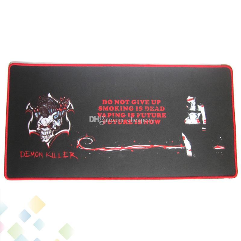 최신 악마 킬러 바 매트 직사각형 전자 담배 바 패드 60 * 30 * 0.3CM 멋진 디자인 선물 상자 천연 고무 DHL 무료