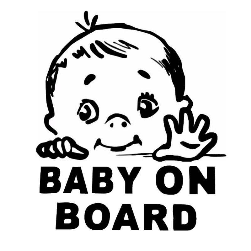13.1*15.2CM Lovely Child BABY ON BOARD Safety Sign Car Stickers And Decal Vinyl Car Styling Jdm