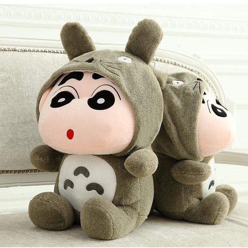 Heiße japanische Anime Shin-Chan Totoro Kleidung Wachsmalstift Shin Chan Abbildung Gefüllte Plüsch Spielzeug für Baby Geschenk