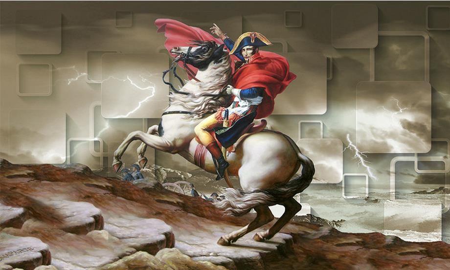 Compre Fondo De Pantalla Mural Foto Personalizado Fondo De Pared 3d Fondo De Pantalla Napoleon White Horse Grid Tv 3d Telón De Fondo Mural Fondo De