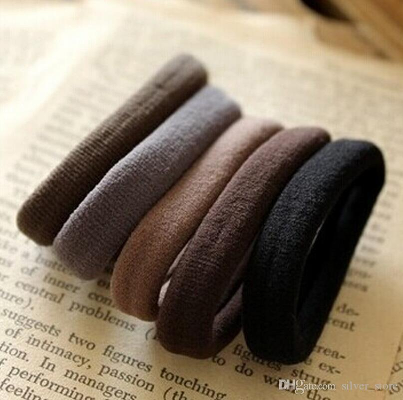 Free shipping Stretch and durable Seamless size of the hair band rubber band candy color hair circle FQ042 mix order 100 pieces a lot
