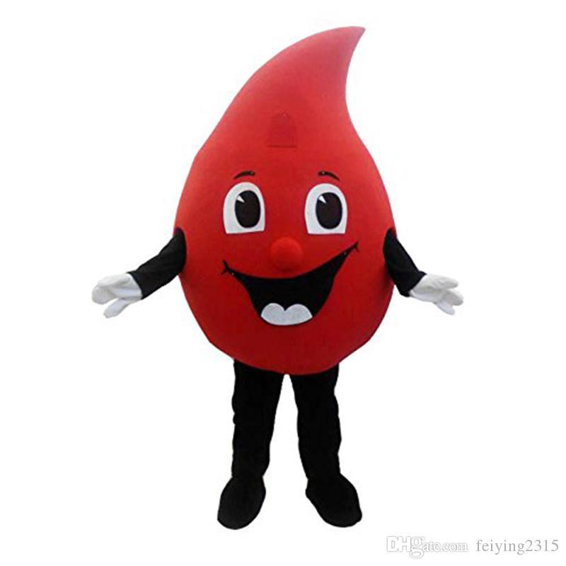 بيع المصنع مباشرة حار بيع جديد مخصص الأحمر قطرة من الدم التميمة حلي الكرتون تنكرية