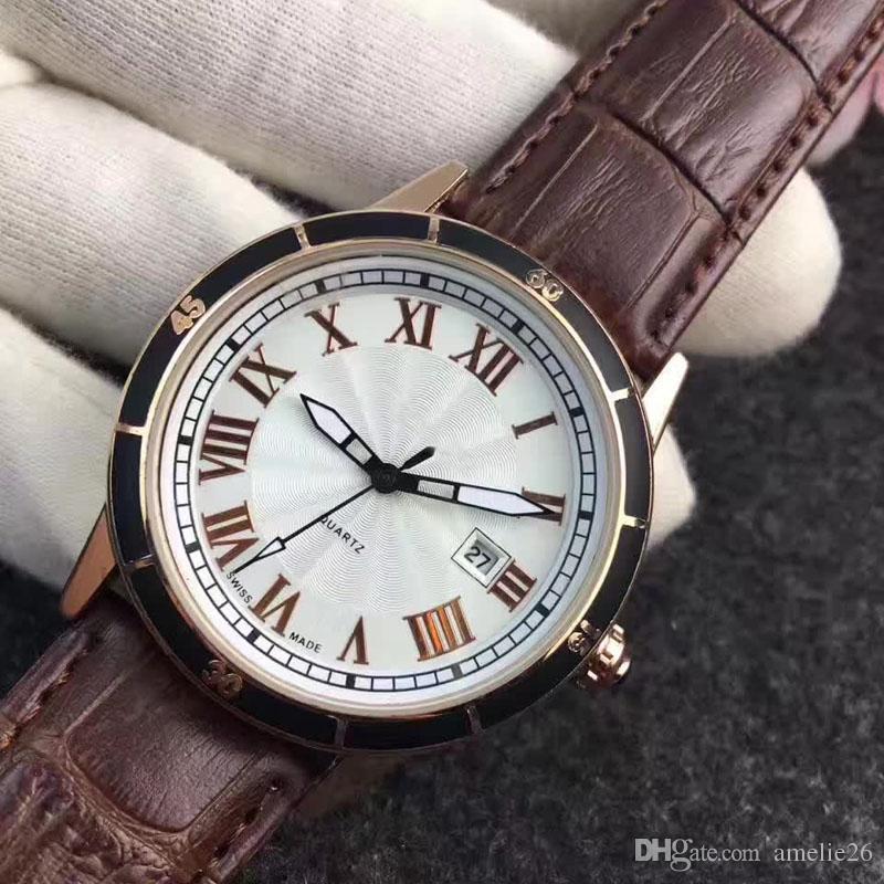 Mode Herrenuhren Lederband Herren Quarzuhr Luxus relogio masculino männliche Uhr Geschenk