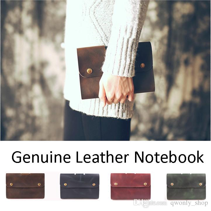 Notebook Vintage A6 Genuine Leather Diary Mini Planner Notepad Cowhide Office Diary Spiral Loose Leaf Journal Note Book
