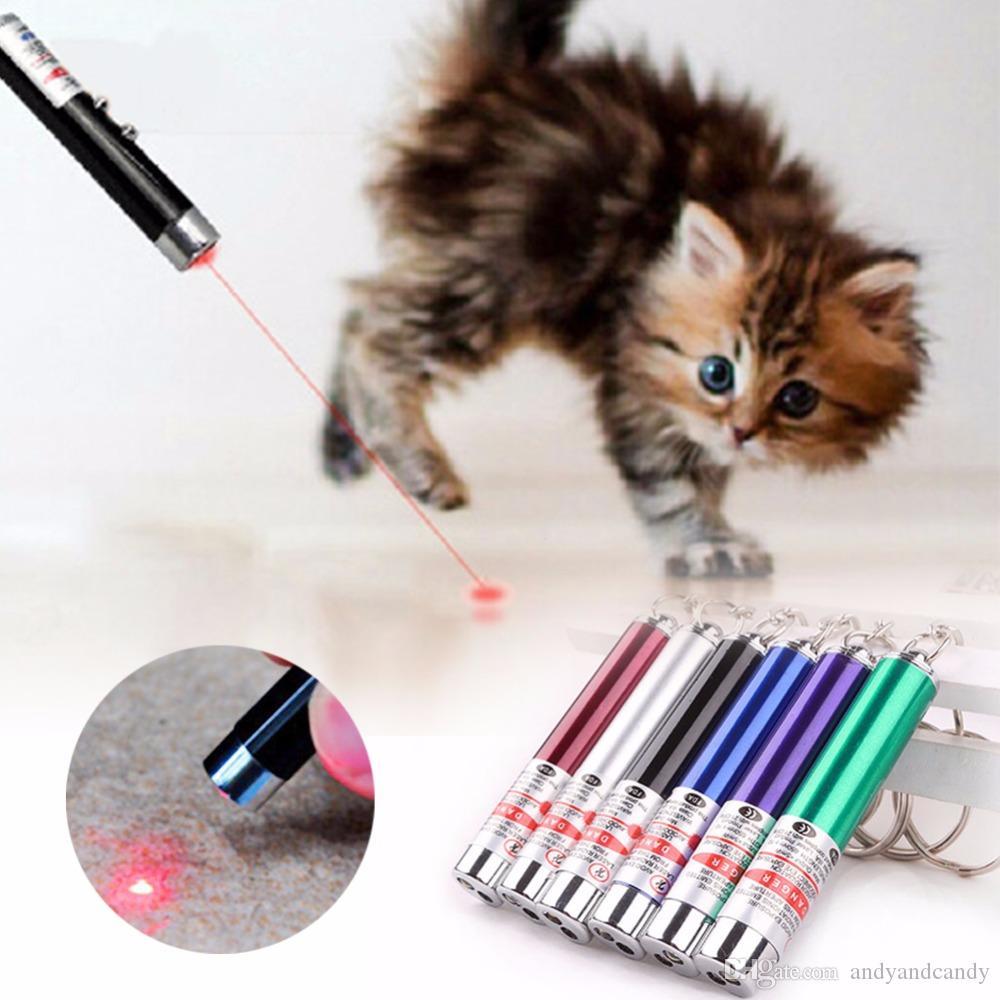 Laser Funny Cat Stick 2 In1 Beam Red Laser Pointer Pen con luz blanca LED Juego de juguetes para niños de juguete para mascotas