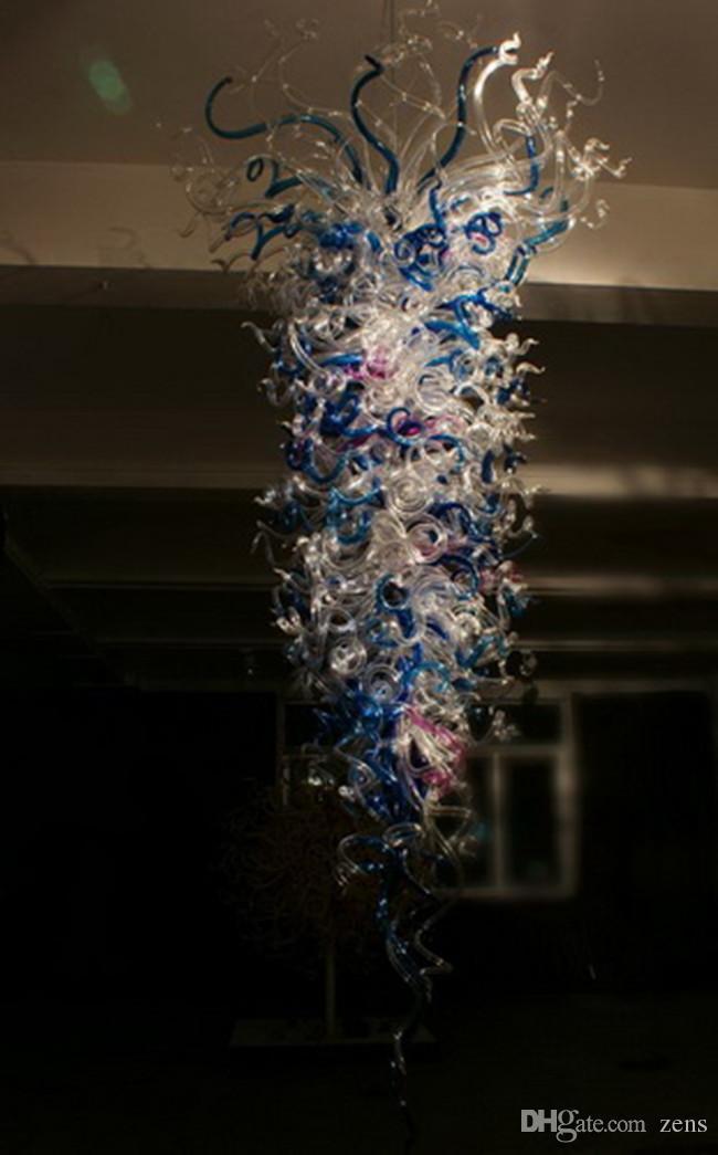 Luxus Unterputz Deckenleuchten Hotellobby Big Multi Colored Hnd Blaown Glass Chandelier Styles (LR049)