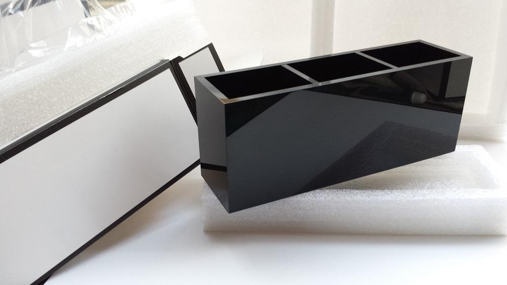 2017 luxus 2C make-up box frauen kosmetische fall make-up werkzeuge toilettenartikel eimer 3 grid acryl aufbewahrungsbox für VIP geschenk