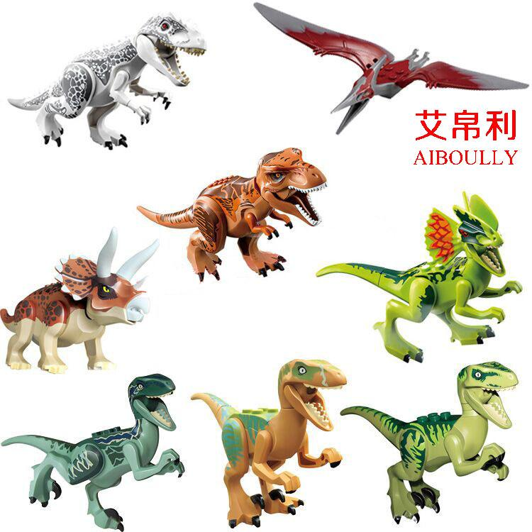 10pcs-79151-77001-Jurassic-World-Park-figures-Dinosaur-Bricks-Figures-Blocks-Super-Heroes-baby-toys-Compatible